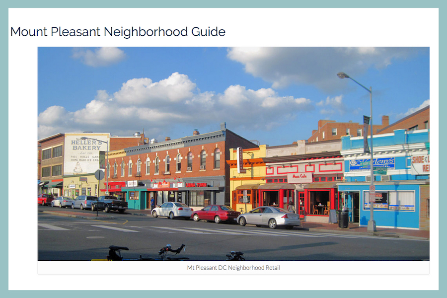 cool neighborhoods in DC