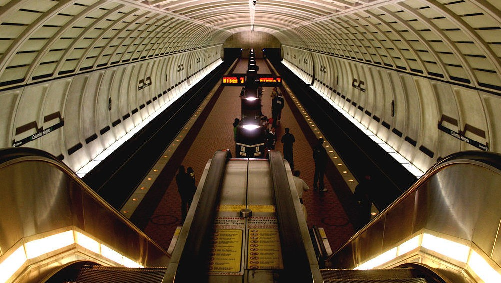 Metro Station in Columbia Heights in Washington, DC