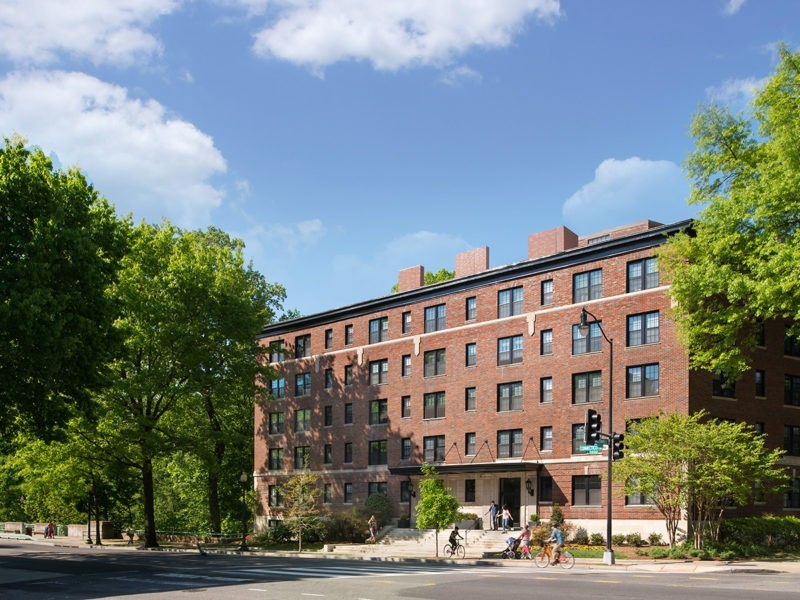 Exterior of The Parkway apartments in Washington, DC