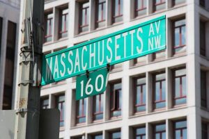 Massachusetts Street sign in Washington, DC