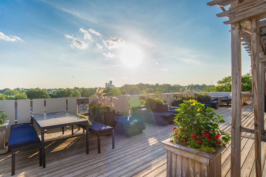the parkwest apartments in dc rooftop photo