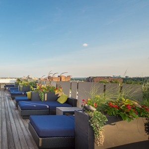 Rooftop deck in our Parkwest complex in Washington, DC