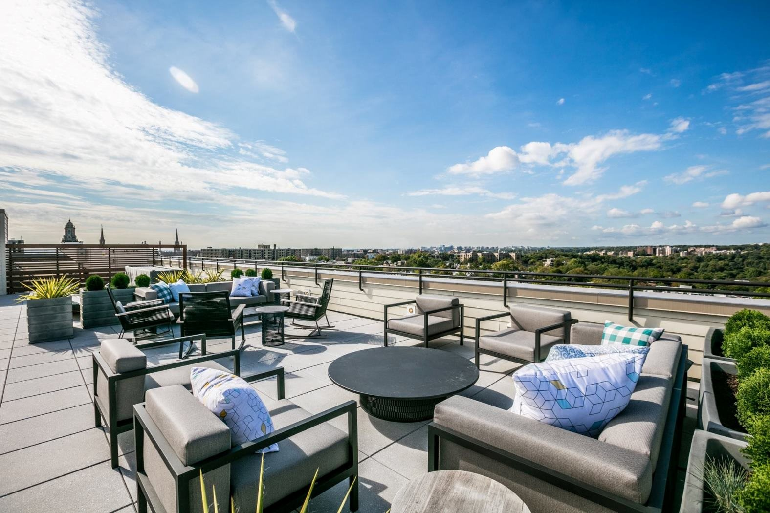 Gorgeous cityscape view of our roof deck in our Vintage complex in Washington, DC
