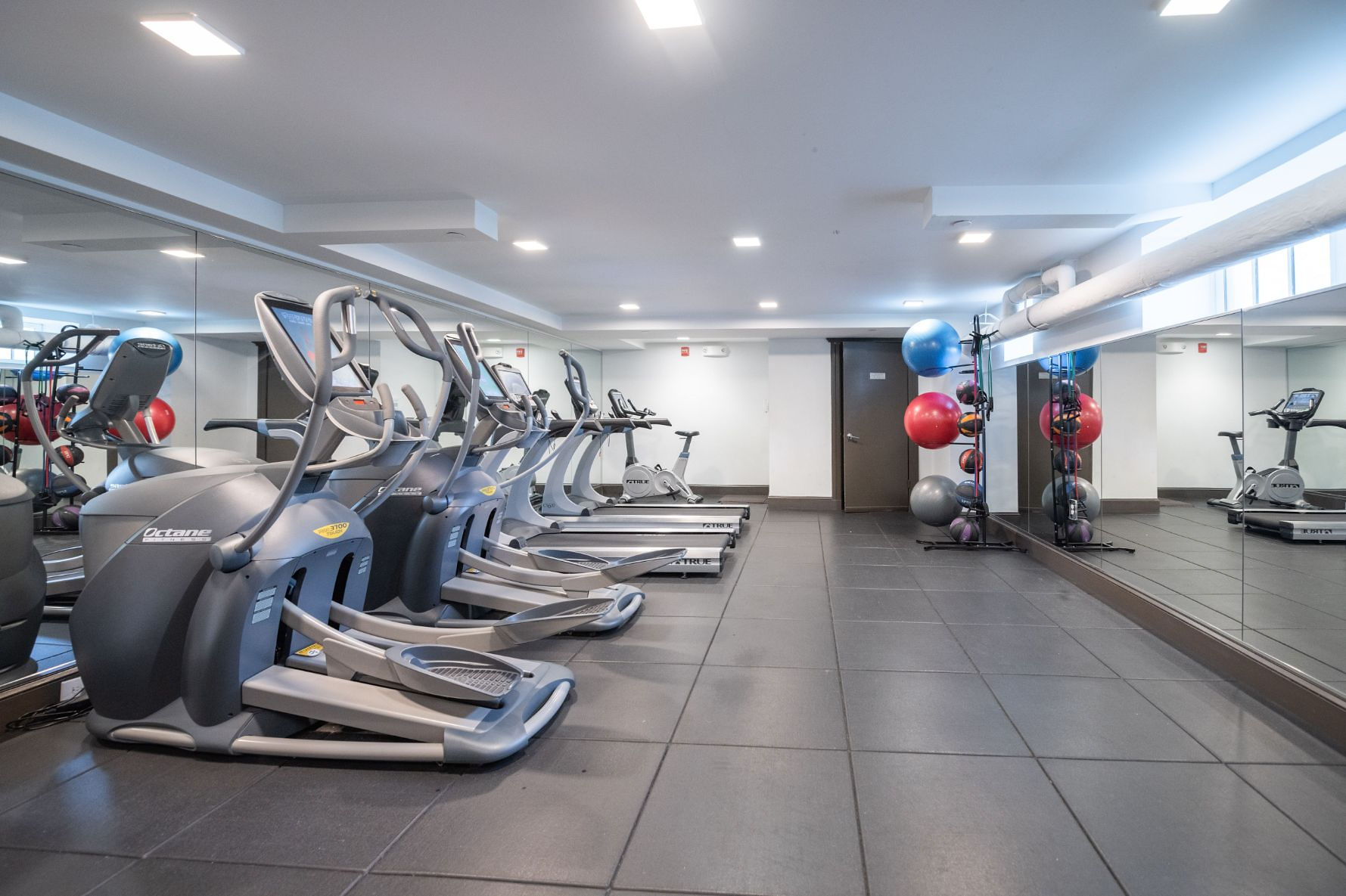 Gym area of The Parkway Apartments