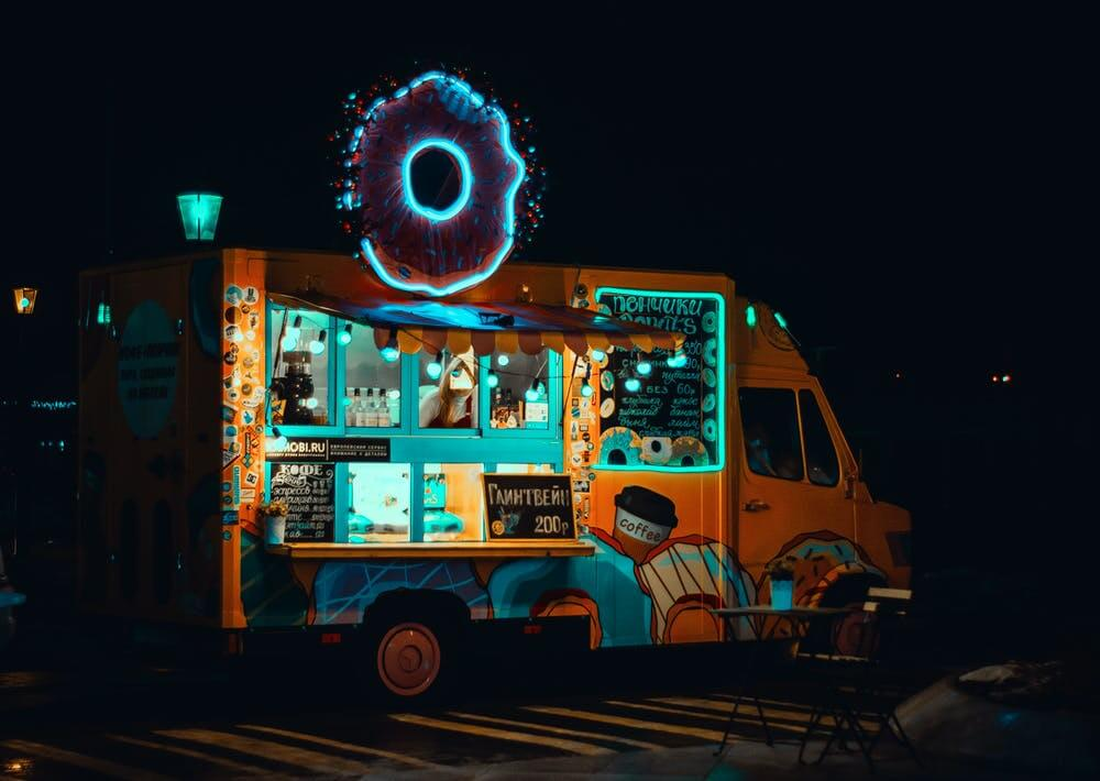 Donut food truck in Washington, DC