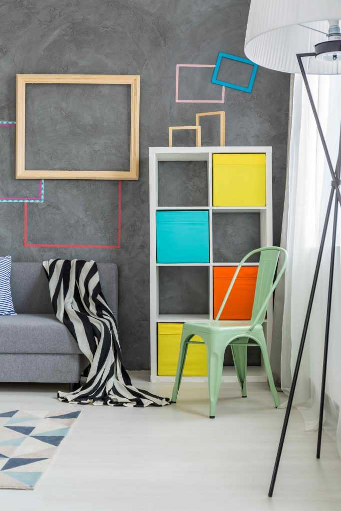 Using color to organize your apartment
