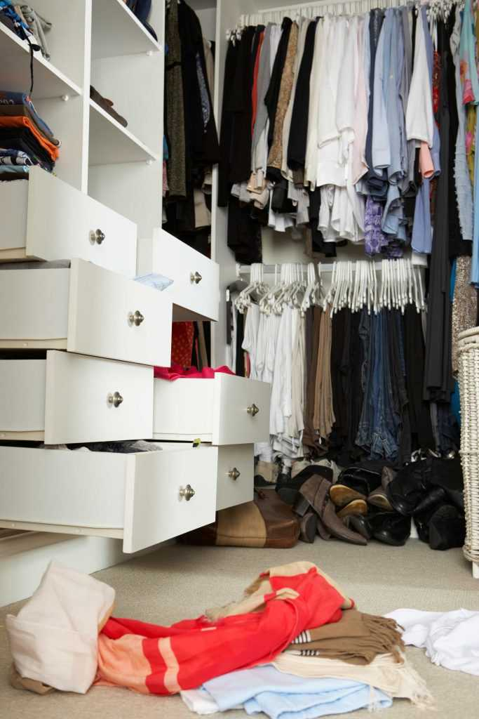 Declutter your closet room