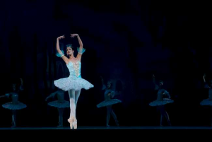ballerina performing the nutcracker in wintertime