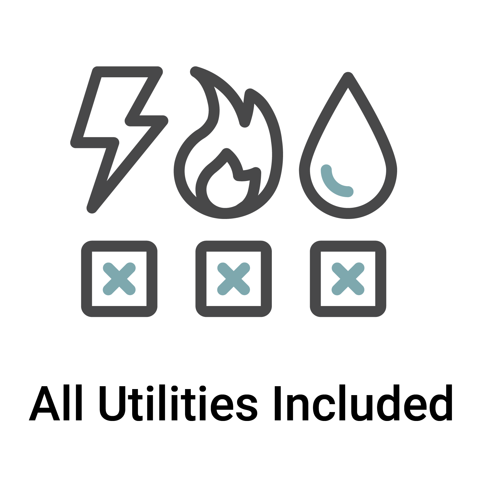 All Utilities Included in Rent