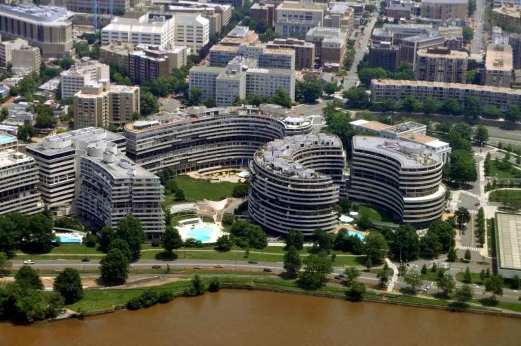 aerial-view-of-the-watergate-hotel-in-washington-dc-example-things-to-do-in-foggy-bottom