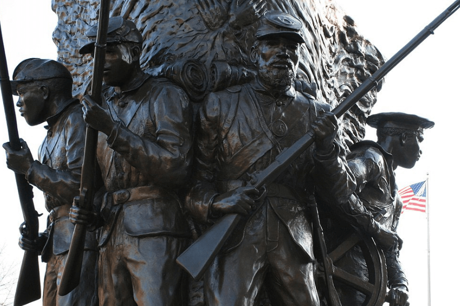 a Statue located at the African American Civil War Museum in Washington D.C.