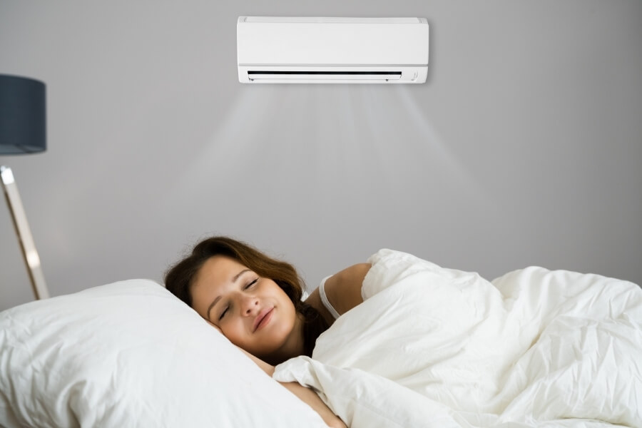 Sleeping with optimal temperature