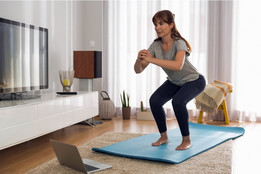 Woman Workouts at Home
